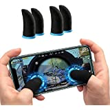 Eftsoon Latest 4 Piece Pubg Game Finger Sleeve Touchscreen Finger Sleeves for Gaming Anti Sweat Breathable Game Controller Th
