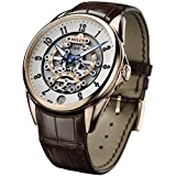 Milus Mens Tirion TriRetrograde 45mm Rose Gold Case Automatic Watch TIRI600