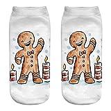 Unisex Weihnachten Socken, Quaan Komisch 3D Mode Gedruckt Beiläufig Socken Niedlich Niedrig Schnitt Knöchel elastisch Seide Strumpfhose Weich Gemütlich Licht atmungsaktiv warm Geschäft Solide