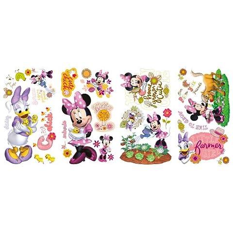 RoomMates RMK2075SCS Mickey et Minnie Amis Cuties Barnyard souris Peel