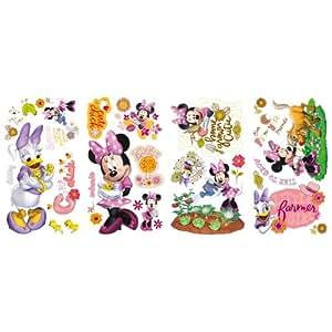 RoomMates Children's Repositonable Disney Wall Stickers, Minnie Mouse Barnyard Cuties