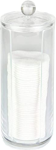 Cosmetic Organizer Compactor Container Make-Up Discs Diam 7.5 x 20h cm