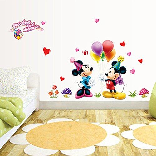 Junmaono adesivi murali/mickey minnie adesivi murales/adesivi parete/decorazione della parete/decorativo per bambini adulti casa ufficio hotel ristorante ottimo regalo cameretta cucina