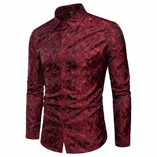 Zycshang abbigliamento uomo camicie classiche, camicia uomo cotone manica lunga fantasia floreale casuale shirt,m, l, xl, xxl, 3xl,camicie classiche