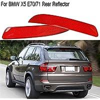 Yuk trasera R + L–Carcasa lente lámpara reflector vivienda cola luz de advertencia para BMW X5E70/712007–2013