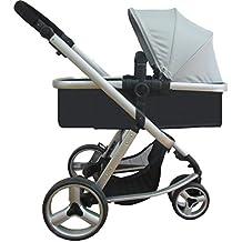 Star Ibaby Go Baby UP - Cochecito de bebe con silla, capazo y burbuja de lluvia, color gris