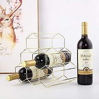 BMG 6 Flaschen Haushaltsweinregale, Metall Kreative Startseite Grape Wine Rack-Restaurant Wohnzimmer-Dekoration, Weinklimaschrank Anzeige Dekorationen