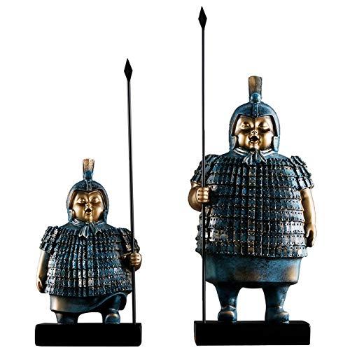 CONGMING Chinesische Ornamente, Wohnaccessoires, Qin Terracotta Warriors Ornamente Retro-Büro Studie TV-Schrank Veranda kreative Dekoration