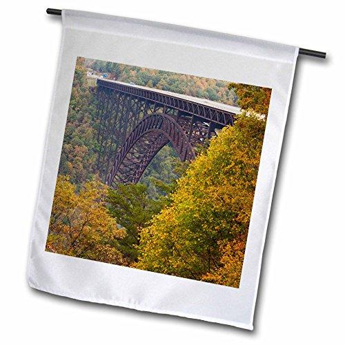 3drose WV New River Gorge National River Bridge–Walter Bibikow–Garten Flagge, 12durch 45,7cm