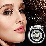 Cils auto-adhésifs - Faux cils 3D en vison - 3 secondes pour porter, sans colle et réutilisables - Extensions de cils à la mode pour la mode et le maquillage