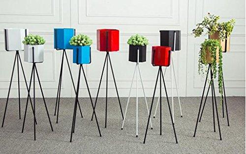 DFHHG® Porte-fleurs, fer Nordic Simple Balcon intérieur Balcon Polygon Floor Style Triangle Étagère à fleurs Porte-pot à fleurs Ensemble complet Support de fleur américain ( Couleur : Bleu )