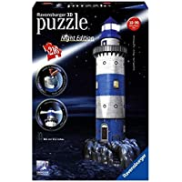 Ravensburger 12577 - Faro, Night Special Edition, Puzzle 3D Building con LED, 216 Pezzi