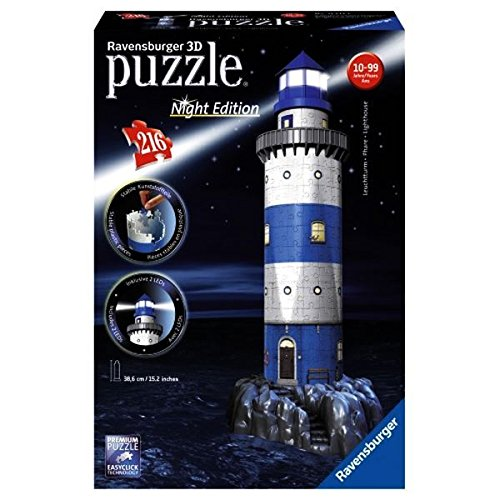 RAVENSBURGER   3D PUZZLE BUILDING FARO NIGHT (12577 7)