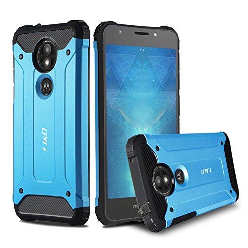 J & D Moto E5 Play Hülle, [ArmorBox] [Doppelschicht] [Heavy-Duty-Schutz] Hybrid Stoßfest Schutzhülle für Motorola Moto E5 Play - [Nicht Kompatibel mit Moto E5 Plus/Moto E5] - Blau