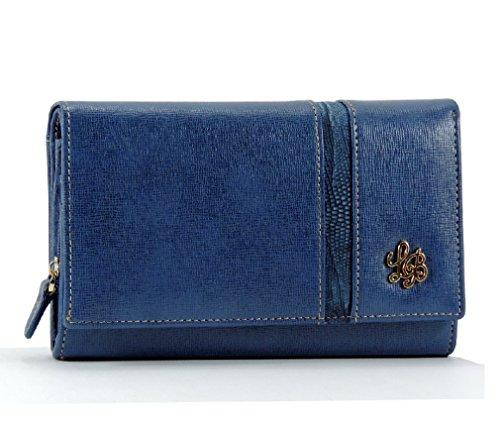 LAURA BIAGIOTTI portafoglio donna lungo con porta carte di credito BLU/JEANS