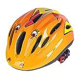 YAKOK Kinder-Helm, Kinder-Sicherheitshelm, für Fahrrad, Roller, Skateboard, Skate für Kinder, Jungen und Mädchen, Alter 3–12 Jahre, gelb, 53-58cm