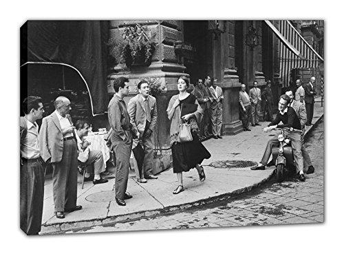 CHICA AMERICANA EN ITALIA 1951 LIENZO FOTO VINTAGE TAMAÑO 50X75CM. Im