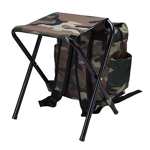 Starter Mochila de pesca-Entusiasta de la pesca- Silla de mochila de pesca-Mochila plegable-Deportes al aire libre-camuflaje