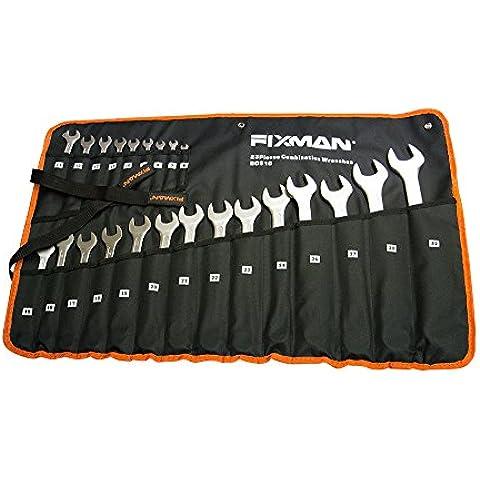 Juego de 23 llaves de tuerca combinadas 6-32 en un bolso, juego de 23 llaves de tuerca combinadas con un estuche para guardar