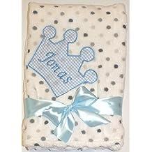Leichte Kuschel Babydecke Baumwolle mit Krone und Namen
