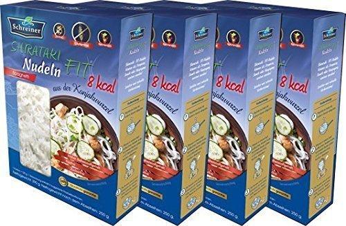 Nudeln Shirataki FIT - Nudeln aus der Konjakwurzel in Spaghetti form, 4 x 390 g, glutenfrei 4 PACK