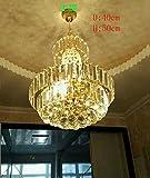 SDKKY Der große kronleuchter, Goldene Salon - Restaurant schlafzimmer leuchten Penthouse - Etage, treppen generalsekretär der villa kronleuchter