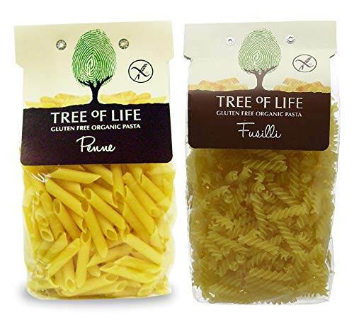 Tree of Life Organic & Gluten Free Penne and Fussilli Pasta 500g (Pack of 4)