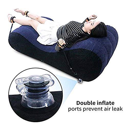 Divano gonfiabile gonfiabile, Chaise longue per yoga Poltrona relax - Cuscino portatile gonfiabile per materassino Cuscino gonfiabile per adulti Coppie per donna