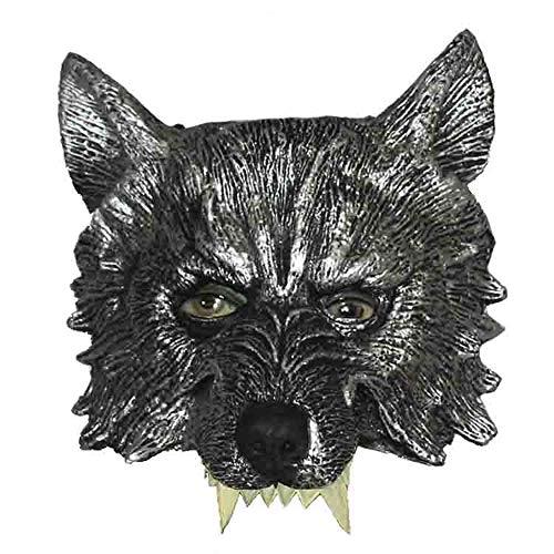 Qing MEI Halloween Maske Simulation Wolf Maske Werwolf Maske Horror Scary Wolf Gesicht Performance Performance Requisiten