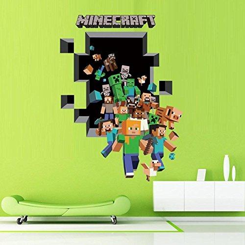 Minecraft Wandtattoo Wallsticker Sticker Figuren