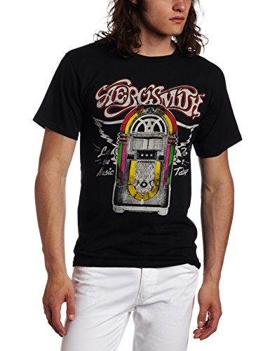 Aerosmith - Camiseta - Hombre de color Negro de talla Small -...