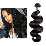 """Mila 10""""-28"""" Tissage Naturelle 8A Ondules Bresilienne Meches 100g/pc Vierge Cheveux 100% Humain Body Wave Hair Bundles Noir Cheveux Couleur 22""""/55cm"""