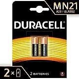 Duracell MN21 Batterie Specialistiche Alcaline da 12 V, Confezione da 2, A23/23A/V23GA/LRV08/8LR932, Progettate per Essere Utilizzate in Telecomandi, Campanelli senza Fili e Sistemi di Sicurezza