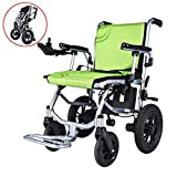 2019 New Electric Wheelchair Folding Motorized Power Wheelchairs, Zinger Chair,Fold Foldable Power Compact Mobility Aid Wheel Chair, Powerful Motor Wheelchair,