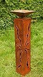 Rostsäulen 80 cm mit Muster zum Beleuchten Gartendeko Rostdeko*
