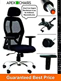 #1: APEX Chairs Apollo Chrome Base HIGH Back Office Chair Adjustable ARMS