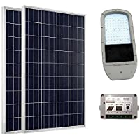 ECO-WORTHY Solar Photovoltaic Lighting System: 1pc 40W 12V LED Street Light + 2pcs 100W Polycrystalline Solar Panel +1pc 15A Solar Charge Controller (not include the