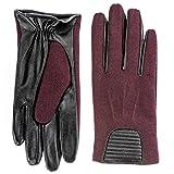 Berydale Damen Lederhandschuhe mit modischem Einsatz, Gr. Medium, Rot