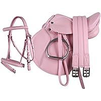 """equipride Pony de sillín 13"""""""" de piel sintética """"Juego completo en color rosa, rosa"""