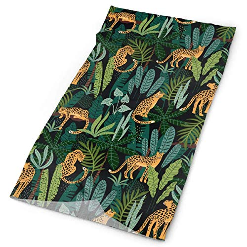 HAILAN Golden Jaguar Bandanna Headwear Neck Gaiters Variety Scarf Wrap