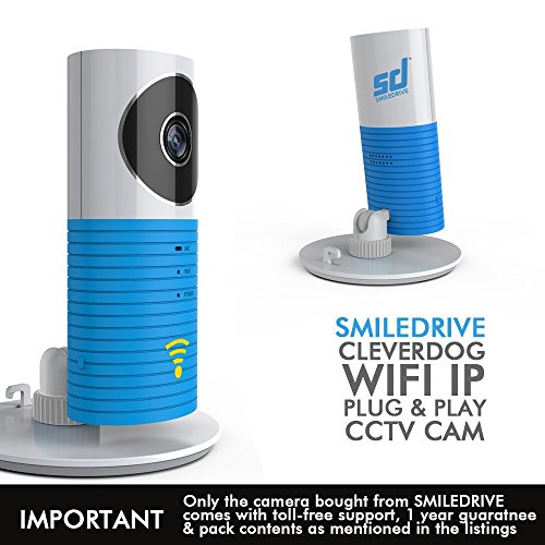 Smiledrive Cleverdog World'S Smartest Plug & Play Wireless Wifi Ip P2P Cctv Camera - Smiledrive Exclusive!