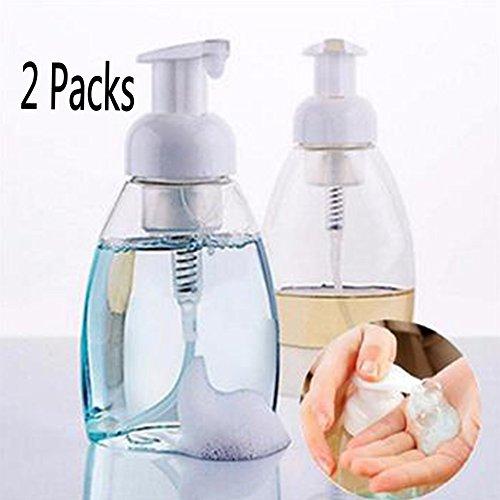 Woopower Flacone erogatore di schiuma, 2contenitori da 250ml/300 ml, base ovale, in plastica, per sapone liquido e shampoo, plastica, Clear, 250 ML