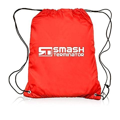 Drawstring Sports Bag Backpack Waterproof Bag Gym PE DUFFLE School Kids Boys Girls Sack by Smash Terminator (Red)