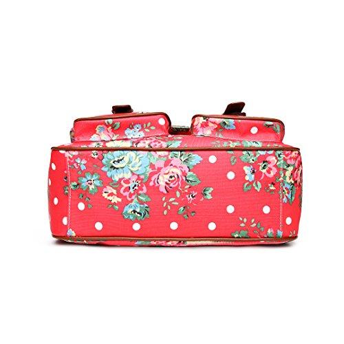 Miss Lulu, Borsa a tracolla donna Taglia unica Flower Bag Plum