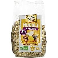 Grillon d'or Muesli 5 Fruits 31% de Fruits 500 g - Lot de 3
