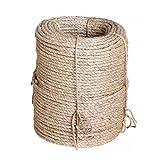 Karry Natur Sisal Leine Seil Sisalseil Auch für kratzbaumseil Kratzbaum Katzenbaum Naturprodukt Hanf Jute Tau Seil Tauziehen Absperr Seil (25 Meter Ø 6 mm) Beige …