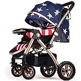 WYX-Stroller Landscape Kinderwagen Sitz Und Hinlegen Kinderwagen Buggy Zwei-Wege-Kinderwagen Für Neugeborene