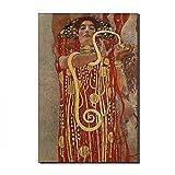Five-Seller Hygieia Von Gustav Klimt Leinwand Berühmte Gemälde Kunstreproduktion Auf Leinwand Wandkunst Kunstwerk Für Hauptdekorationen Gedruckt (40 x 60 cm)