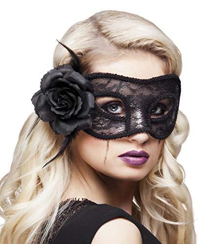 Boland 97528 Spitzen Augenmaske Mystique, Schwarz