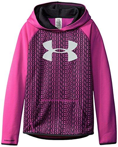 Under Armour Jungen Mädchen Printed Big Logo Fleece Hoodie, Mädchen, Rebel Pink (652)/Rebel Pink, Jugend Large - Under Armour Jungen Streifen